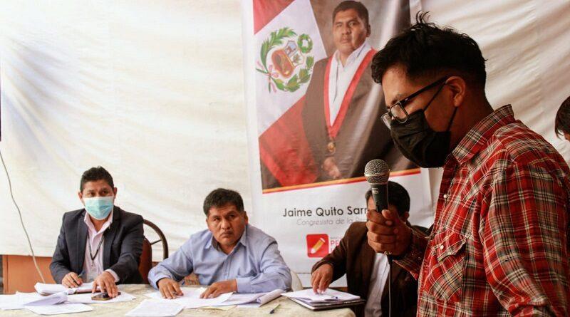 Congresista Jaime Quito anuncia nueva Ley Mype en reunión con empresarios en Arequipa