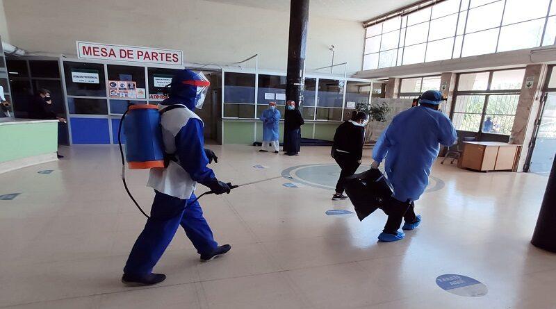 Hospital COVID contrató más personal de limpieza para mantener aséptico el nosocomio