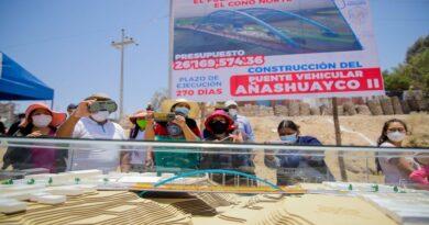 Iniciaran construcción de puente Añashuayco 2