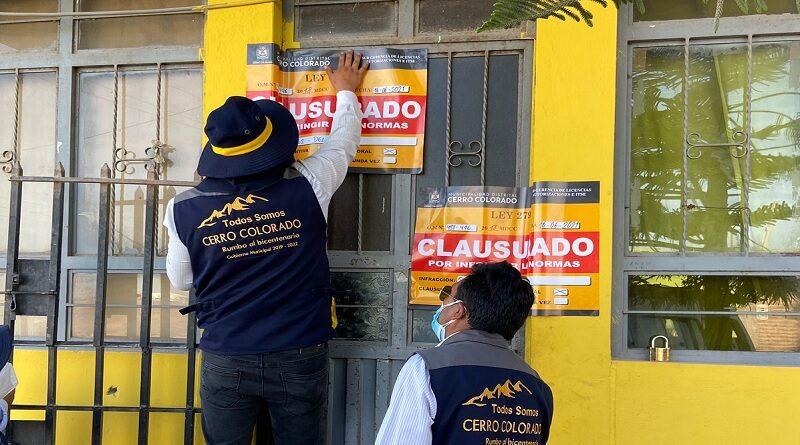 Clausuran locales por venta de bebidas alcohólicas en Cerro Colorado
