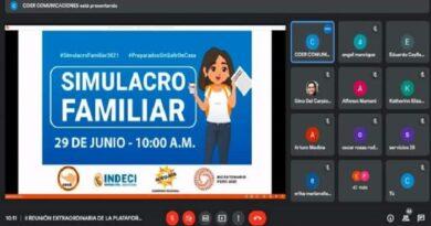 COER Arequipa realiza coordinaciones para simulacro de sismo familiar del 29 de junio