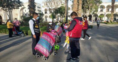 Realizan operativo de protección de menores en riesgo en Arequipa